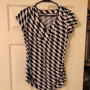 NY&Company black and white checkered blouse.